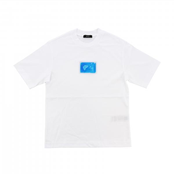 T-shirt N°21 a maniche corte con logo oceano