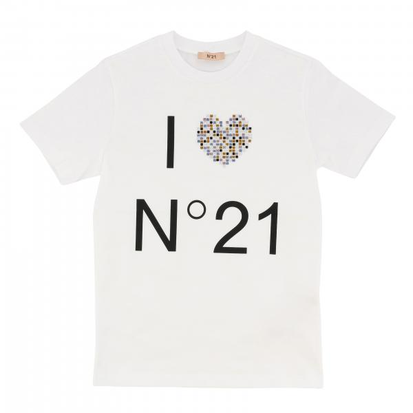 N ° 21 short-sleeved T-shirt with print