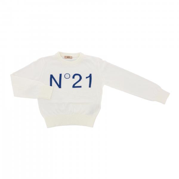 Pullover N°21 a girocollo con logo in jacquard