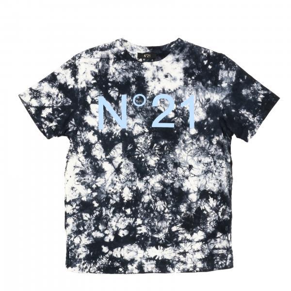 N°21 T-Shirt mit Logo und tie dye
