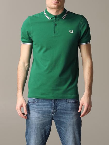 Polo Fred Perry con bordi a righe e logo