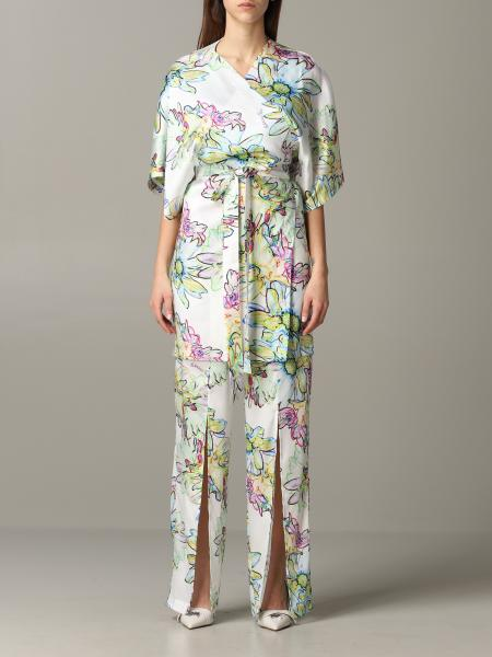 Patrizia Pepe jumpsuit in floral patterned satin