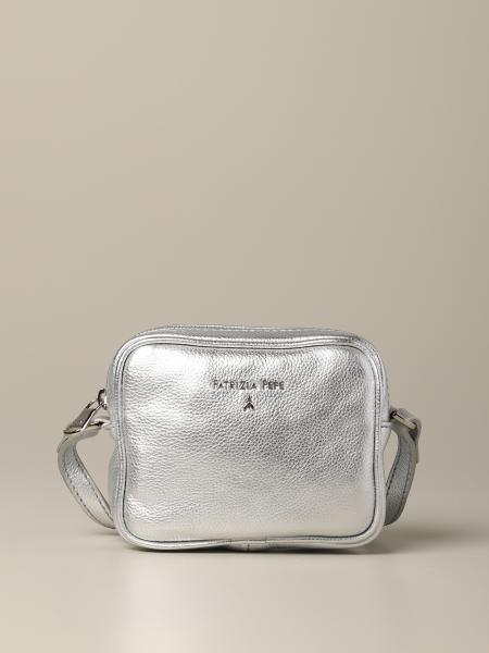 Patrizia Pepe Mini Tasche aus Metallic-Leder