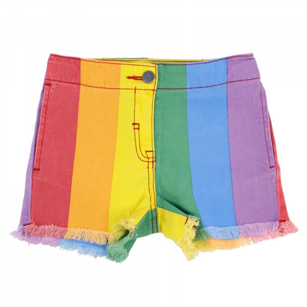 Stella McCartney shorts in rainbow denim