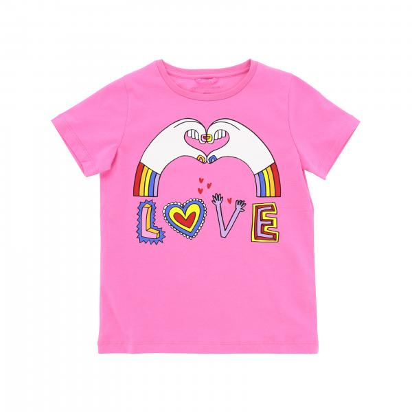 Stella Mccartney short-sleeved T-shirt with love print