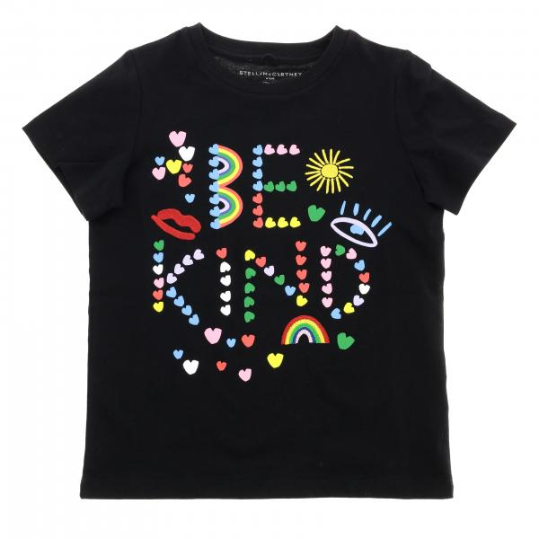 Stella McCartney short-sleeved T-shirt with be kind print