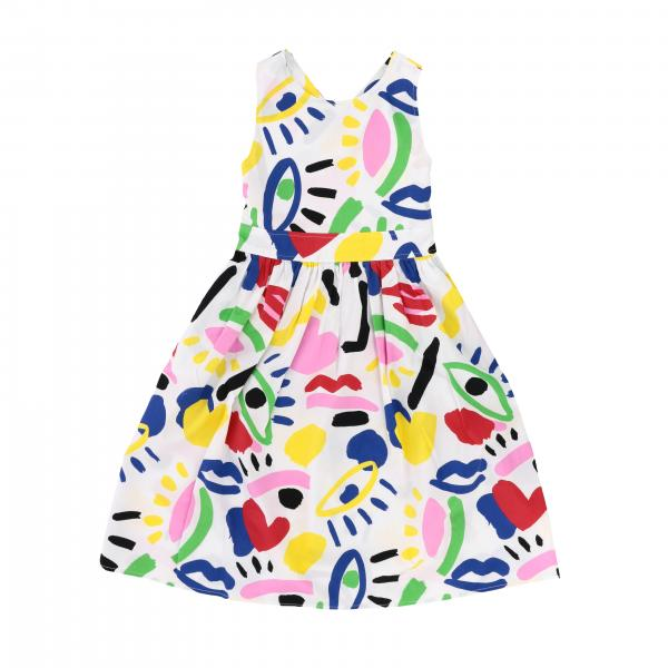 Stella Mccartney cotton dress with multicolor pattern