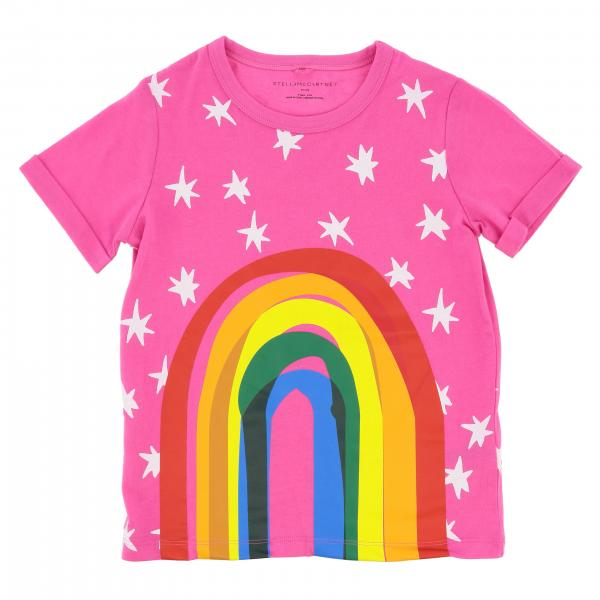 Stella McCartney short-sleeved T-shirt with rainbow print