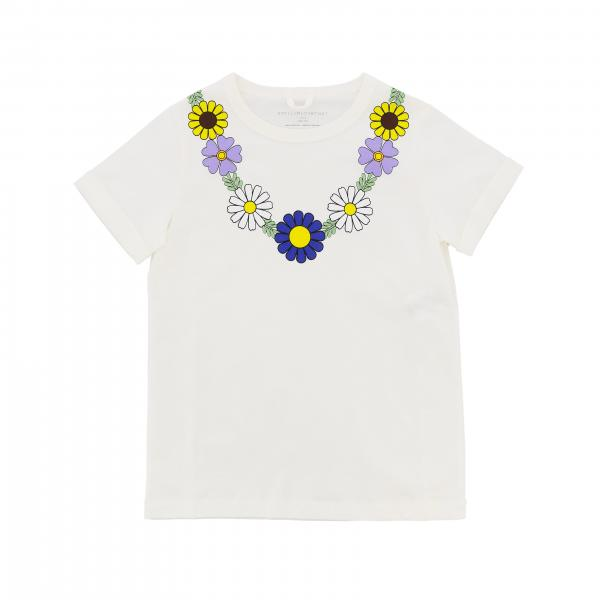Stella Mccartney short-sleeved T-shirt with daisies print
