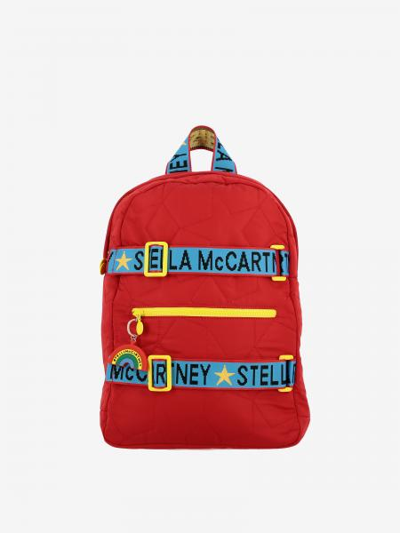 Stella McCartney nylon backpack with logoed bands