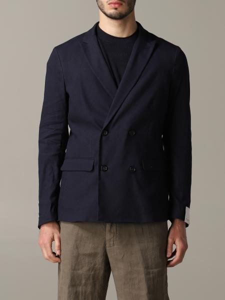 Paolo Pecora Jacke aus Jersey und Leinen