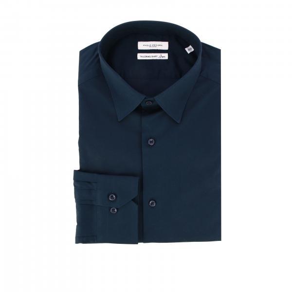Paolo Pecora 标准领弹性府绸衬衫