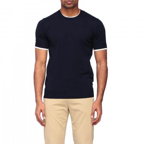 Paolo Pecora T-Shirt mit Rundhalsausschnitt und Streifen