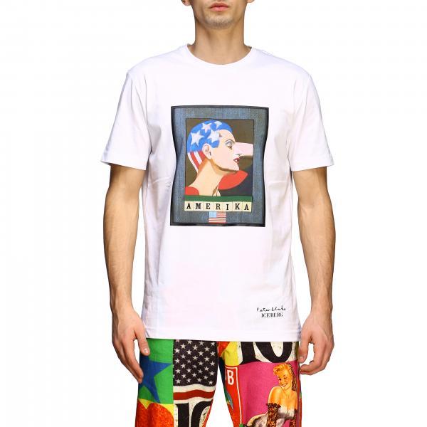 Iceberg: T-shirt Iceberg x Peter Blake con stampa Amerika