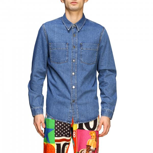 Iceberg x Peter Blake denim shirt with multicolor logo patch