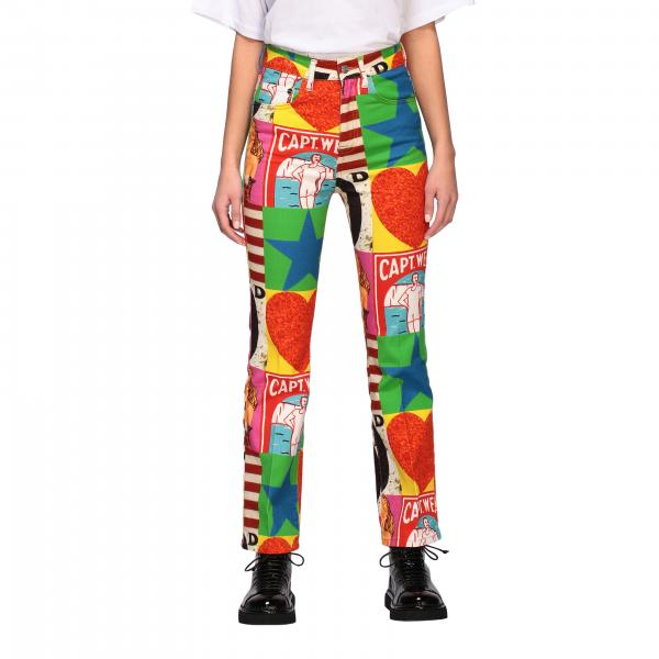 Iceberg x Peter Blake trousers in printed cotton