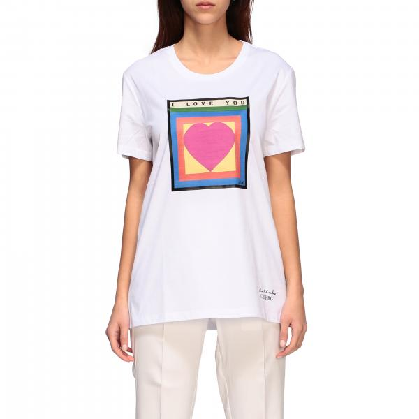 T-shirt Iceberg x Peter Blake con stampa i love you
