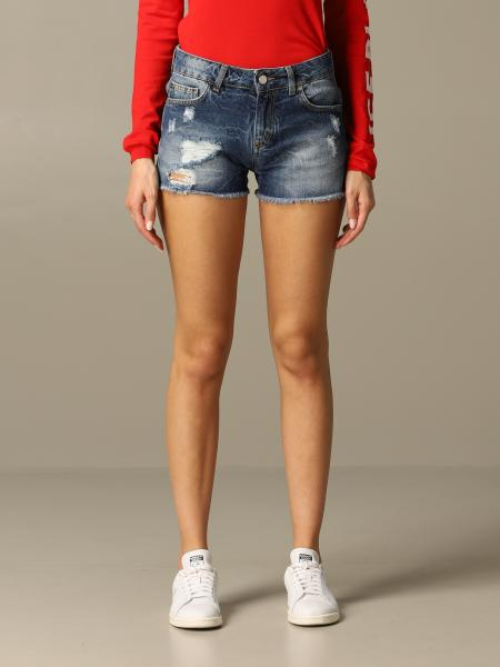Shorts di jeans Ice Play con rotture