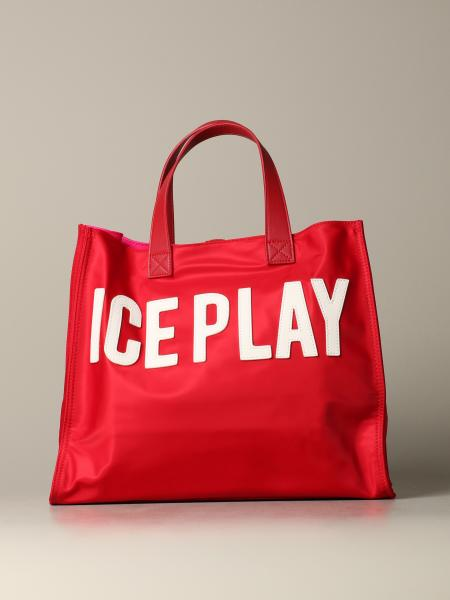 Borsa Ice Play in nylon fluo con logo
