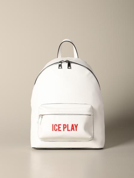 Ice Play logo saffiano人造皮背包