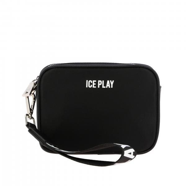 Pochette a mattoncino Ice Play in nylon con logo