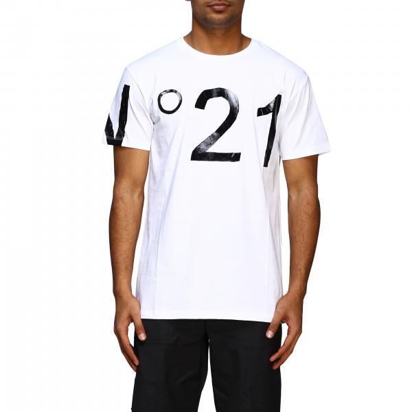 Футболка с укороченным рукавом и большим логотипом Мужское N° 21