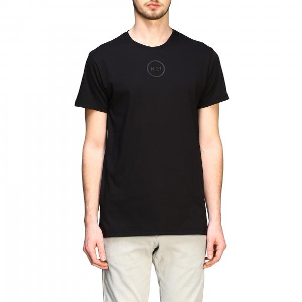 T-shirt N°21 con mini logo gommato tono su tono