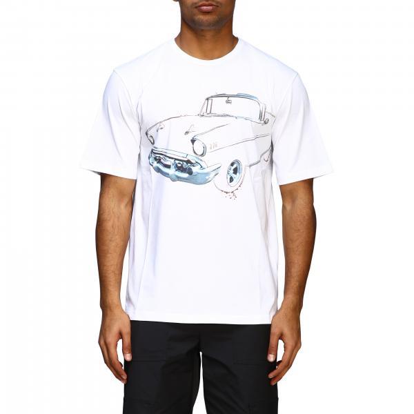 T-shirt à manches courtes N°21 avec gros imprimé machine