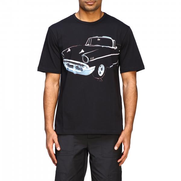 N ° 21 short-sleeved T-shirt with big car print