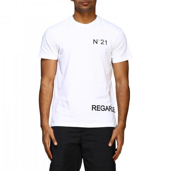 N ° 21 short-sleeved T-shirt with regarde moi print