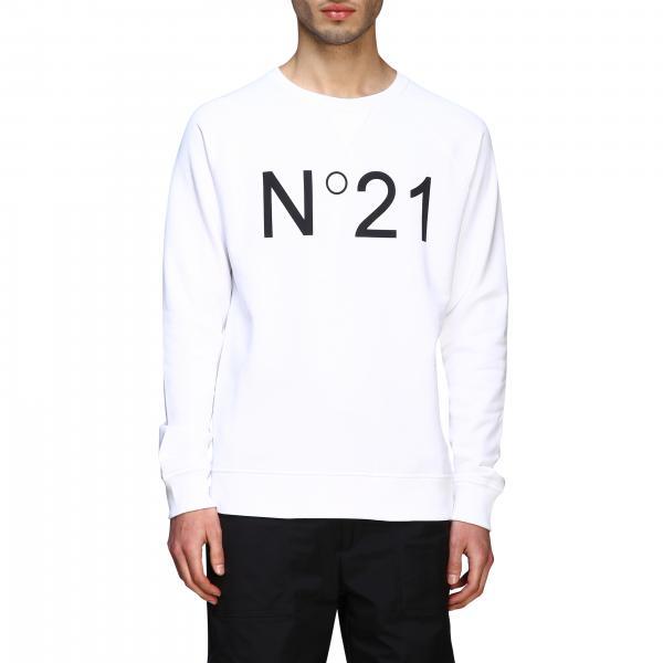 Sweat col rond N°21 avec logo contrasté