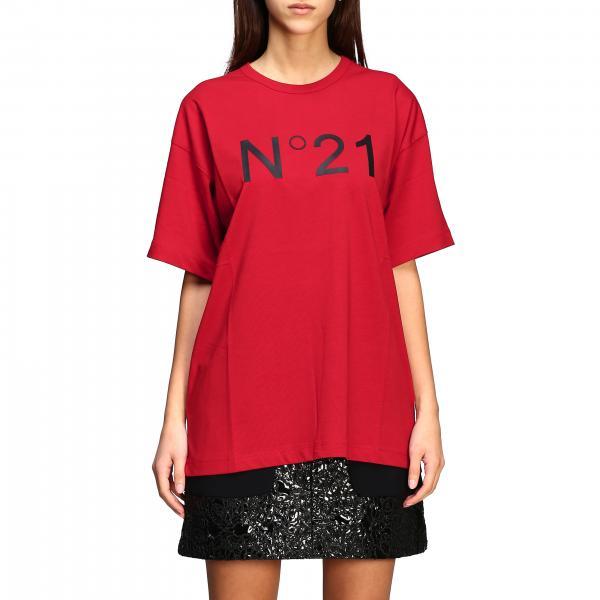 N° 21 logo印花宽松款T恤