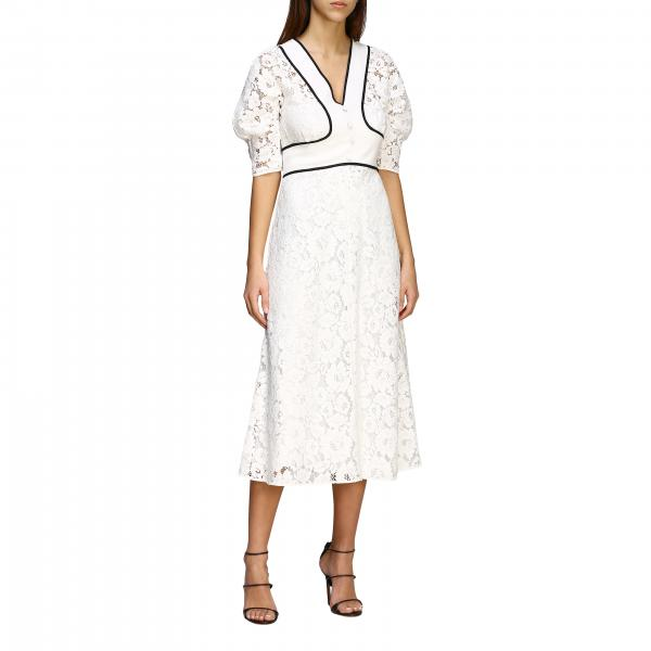 Длинное платье N° 21 из макраме