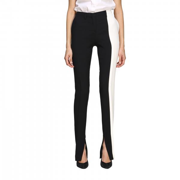 N° 21 两面条纹美式口袋裤子