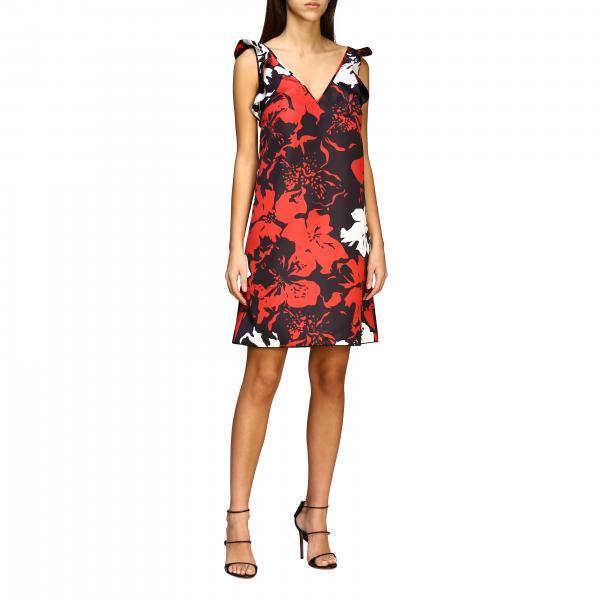 Короткое платье N° 21 с цветочным узором