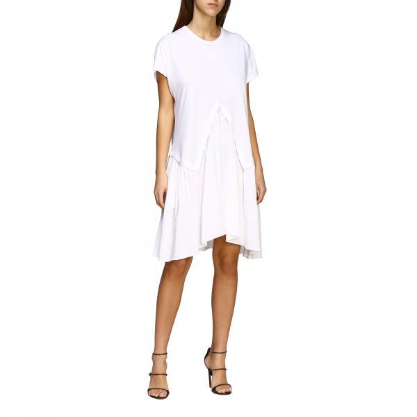 Платье N° 21 из джерси с вставками из кружева