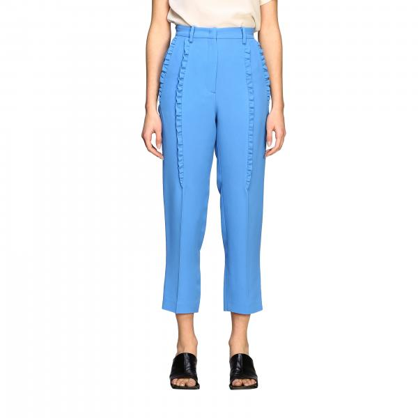 Pantalone N°21 con tasche america e micro rouches