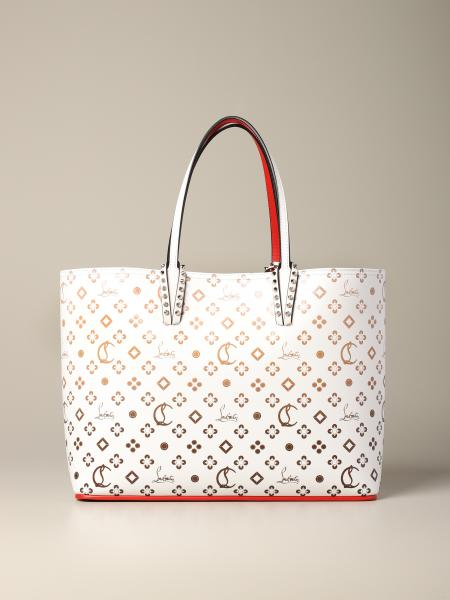Borsa Cabata Christian Louboutin in pelle con logo all over
