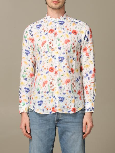 Baronio shirt in floral patterned linen