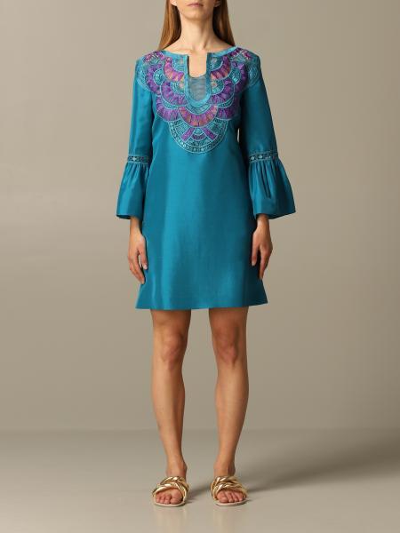 Alberta Ferretti dress with embroidered inserts