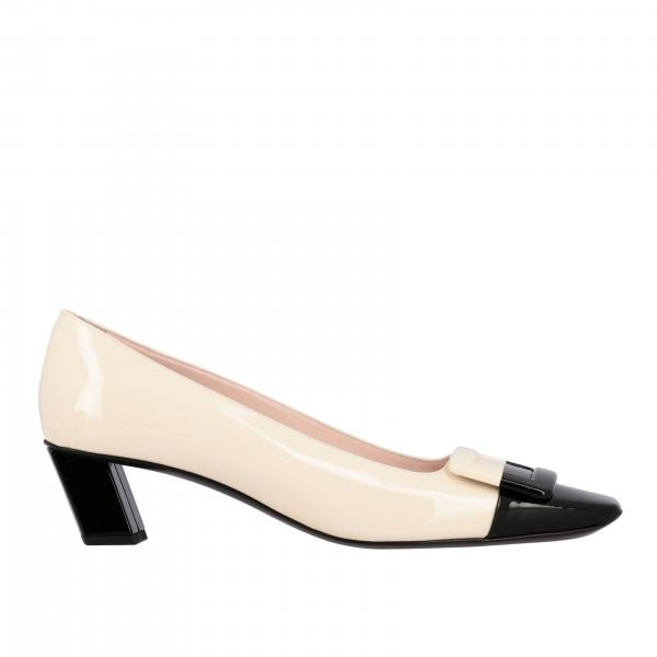 Belle Vivier Roger Vivier two-tone patent leather pumps