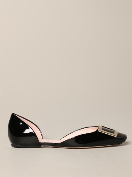 Roger Vivier Dorsay ballet flat pumps in patent leather