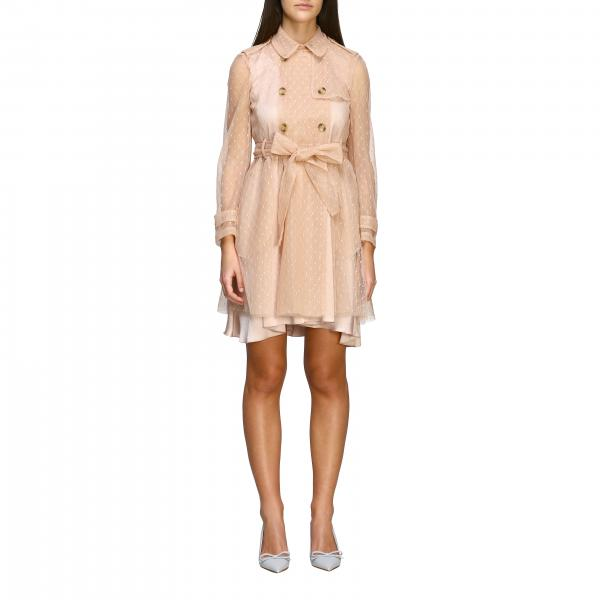 Trench corto Red Valentino in tulle point d'esprit