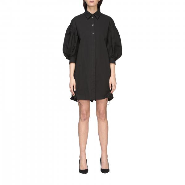 Colta Pinko Uniqueness wide dress in poplin with writing