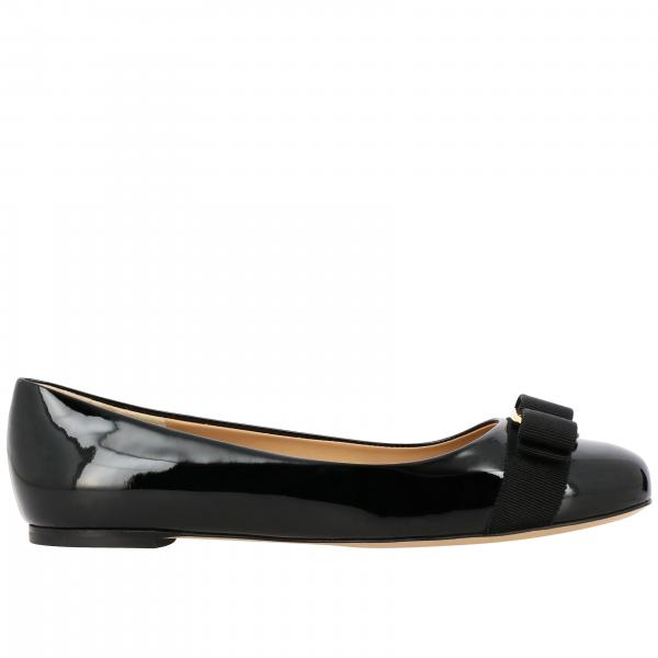 Varina Salvatore Ferragamo ballet flats in patent leather