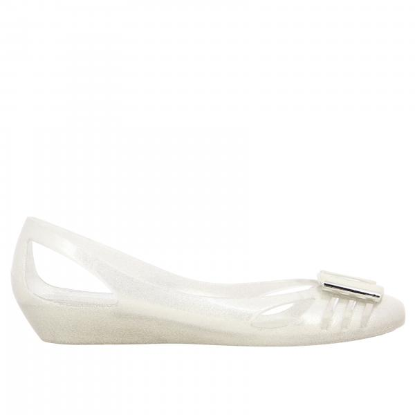 Salvatore Ferragamo ballerina in rubber with metallic bow