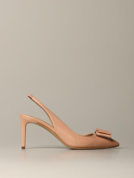 Sling back Zeri Salvatore Ferragamo in leather with bow
