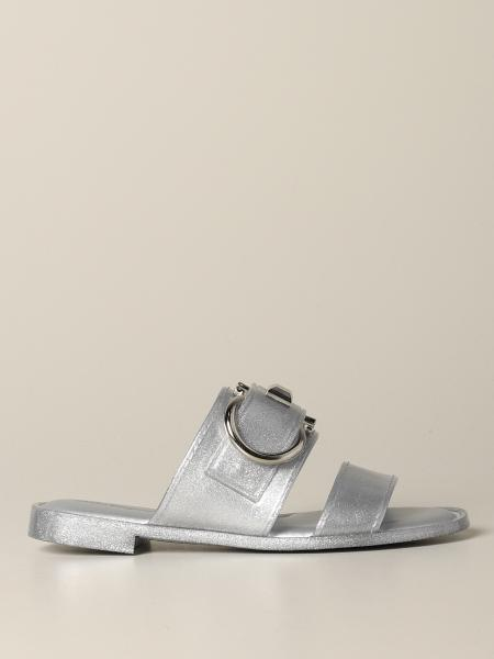 Taryn Salvatore Ferragamo sandal in glitter rubber with Mediterranean hook