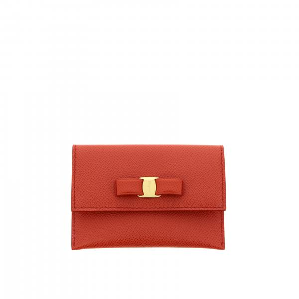 Salvatore Ferragamo credit card holder with Vara bow