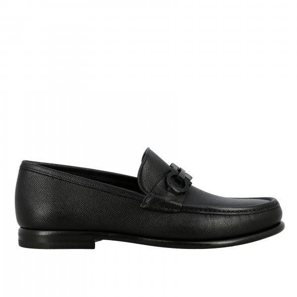 Salvatore Ferragamo Crown Loafer aus Saffiano Leder